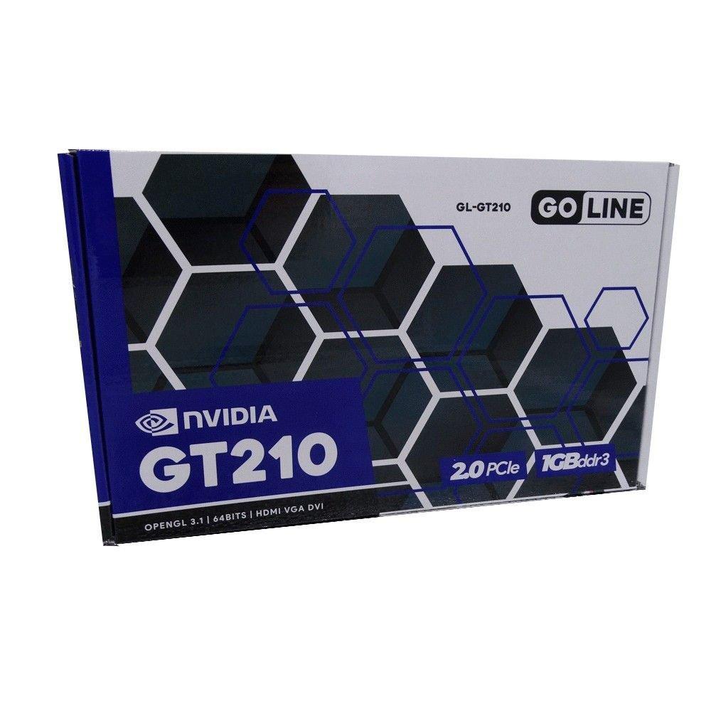 placa de video 1gb gl gt210 goline 500mhhz 64bits ddr3 50732 2000 202474 1