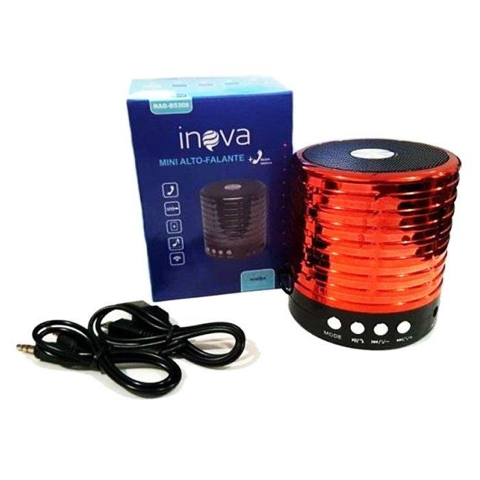 caixa de som bluetooth inova rad b5308 vermelha 50921 2000 203085