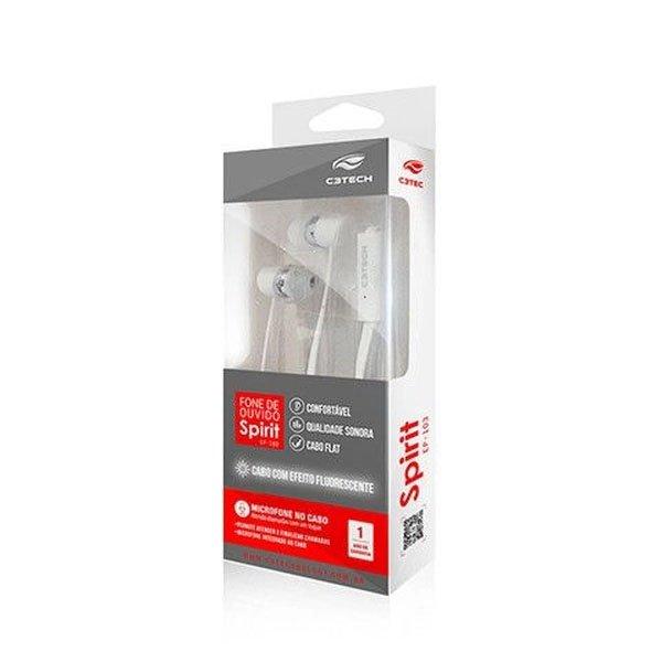 fone de ouvido auricular com microfone spirit ep 103wh c3t 50895 2000 202711
