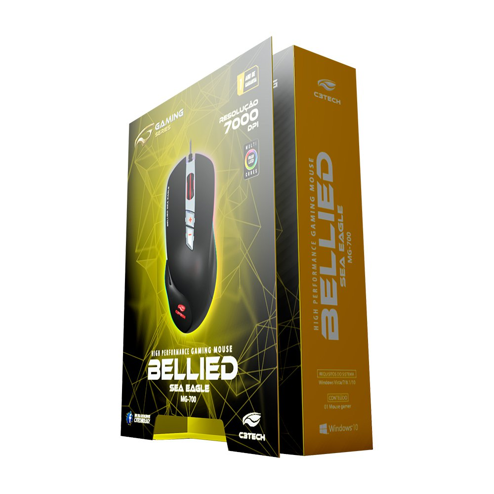 mouse usb gamer bellied mg 700bk rgb 7000dpi c3 tech 50896 2000 202741