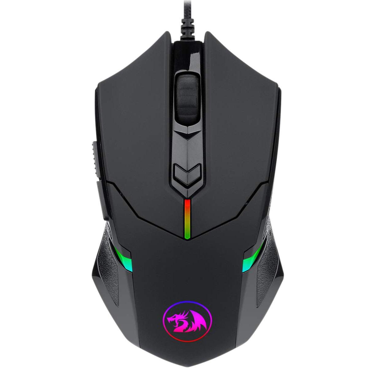 mouse usb gamer redragon centrophorus 2 m601 rgb 7200dpi preto 50953 2000 202844
