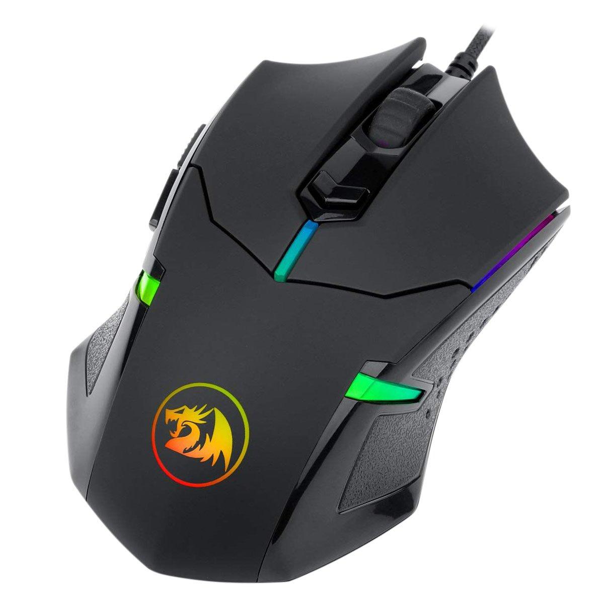 mouse usb gamer redragon centrophorus 2 m601 rgb 7200dpi preto 50953 2000 202845