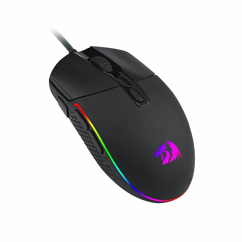 mouse usb gamer redragon invader m719 rgb 10000dpi preto 50956 2000 202859