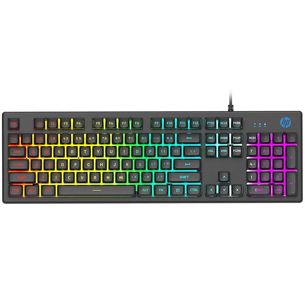 teclado usb gamer membrana led k500f hp preto 50898 2000 202750 1
