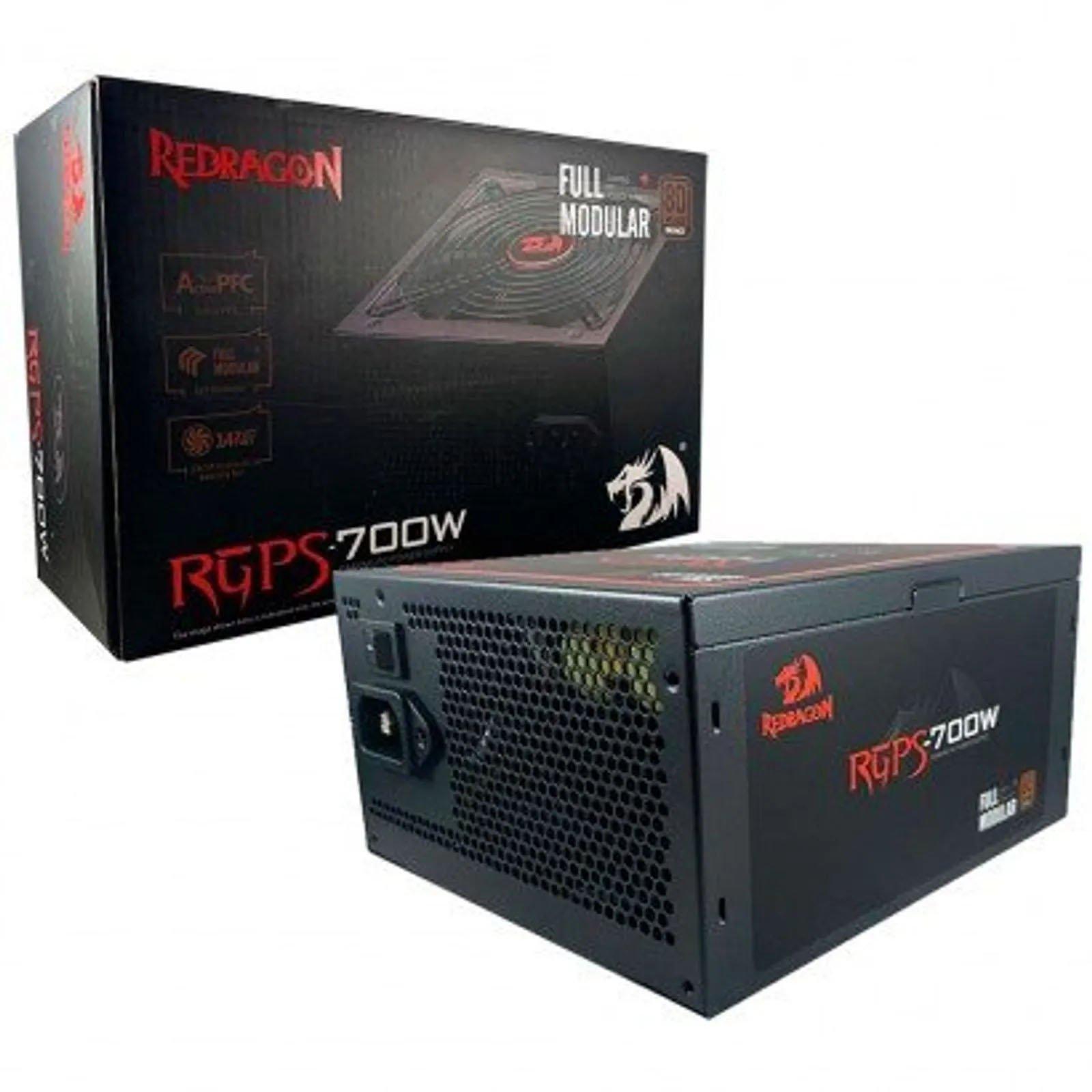fonte atx gamer 700w redragon gc ps005 bronze modular 80 plus 50885 2000 202701 1