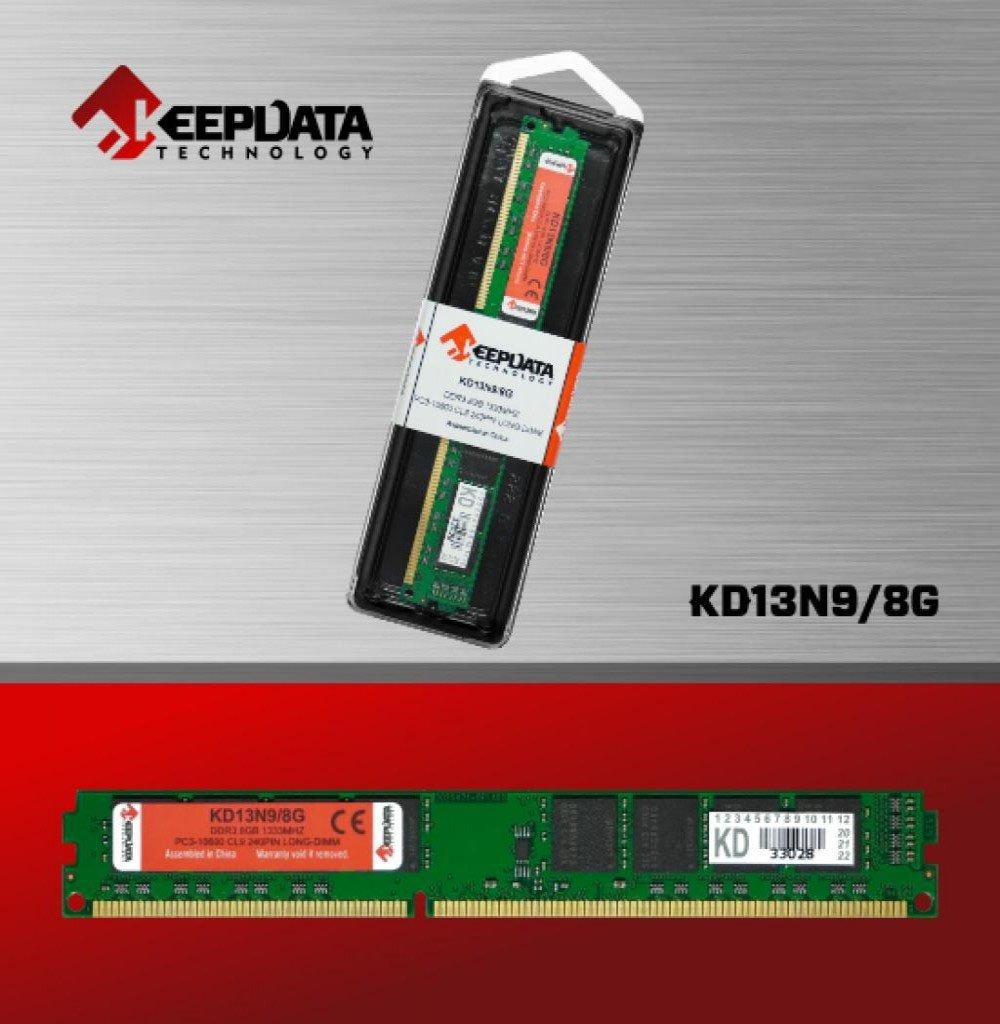 memoria ddr3 8gb pc1333 keepdata kd13n9 8g 50980 2000 203042 1