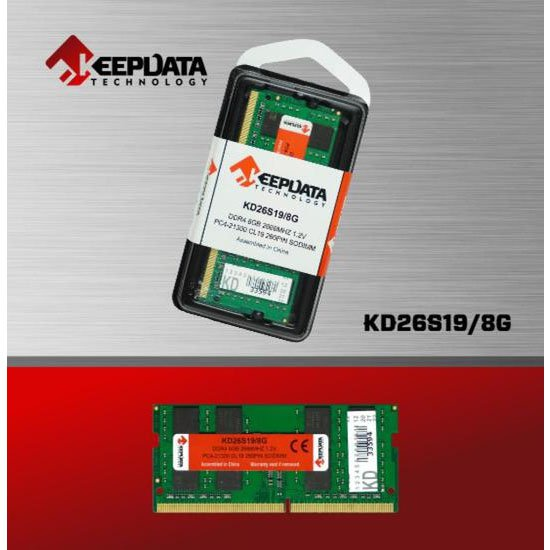 memoria notebook ddr4 8gb pc2666 keepdata kd26s19 8g 50974 2000 203056 1