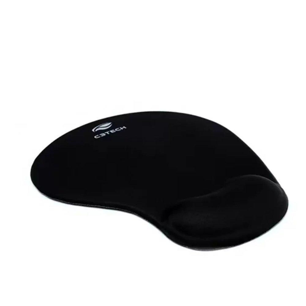 mouse pad com apoio em gel mp 200 c3tech preto 50983 2000 204124 1