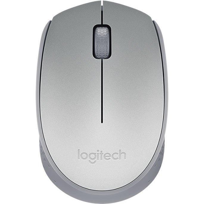 mouse sem fio logitech m170 24ghz wireless prata 51001 2000 203104