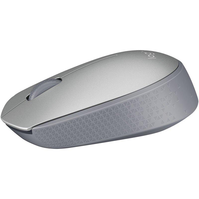 mouse sem fio logitech m170 24ghz wireless prata 51001 2000 203105
