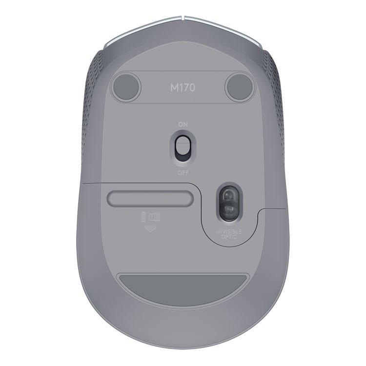 mouse sem fio logitech m170 24ghz wireless prata 51001 2000 203107