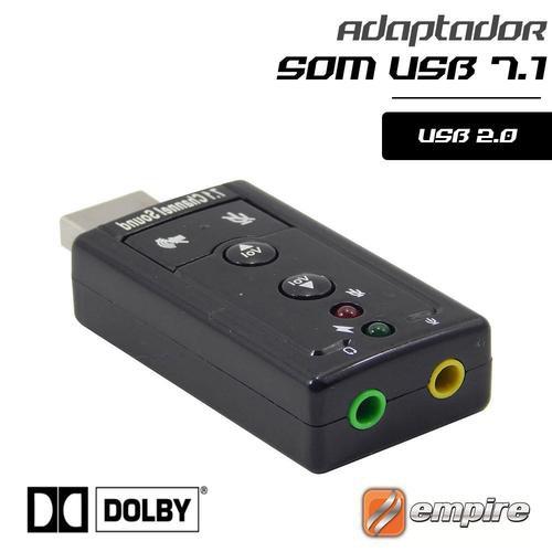 placa de som usb adaptador 71 empire 37534 2000 200234 1