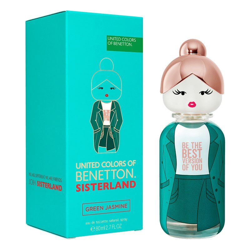 perfume benetton sisterland green jasmine feminino 80 ml 51066 2000 203191 4