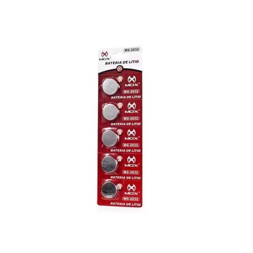 pilha moeda bateria cr2032 3v 200mah lithium mox c 05 unidade 51097 2000 203302 1