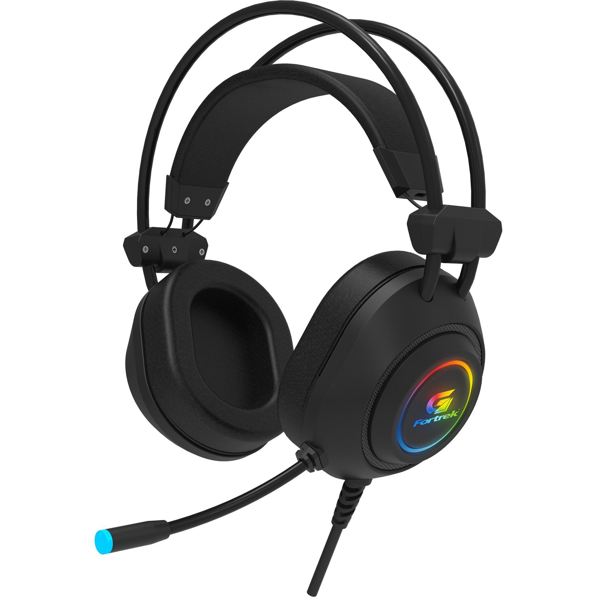 fone de ouvido desfrutando preto fortrek gamer rgb crusader com microfone 49949 2000 201178 1