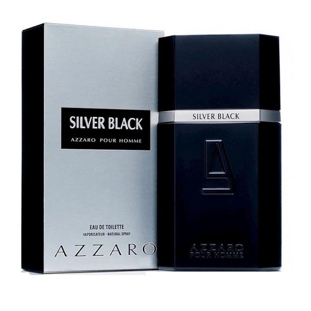 perfume azzaro silver black masculino edt 100 ml 51131 2000 203354 2