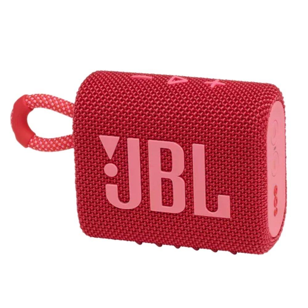 caixa de som bluetooth jbl go 3 vermelha go3 51079 2000 203799