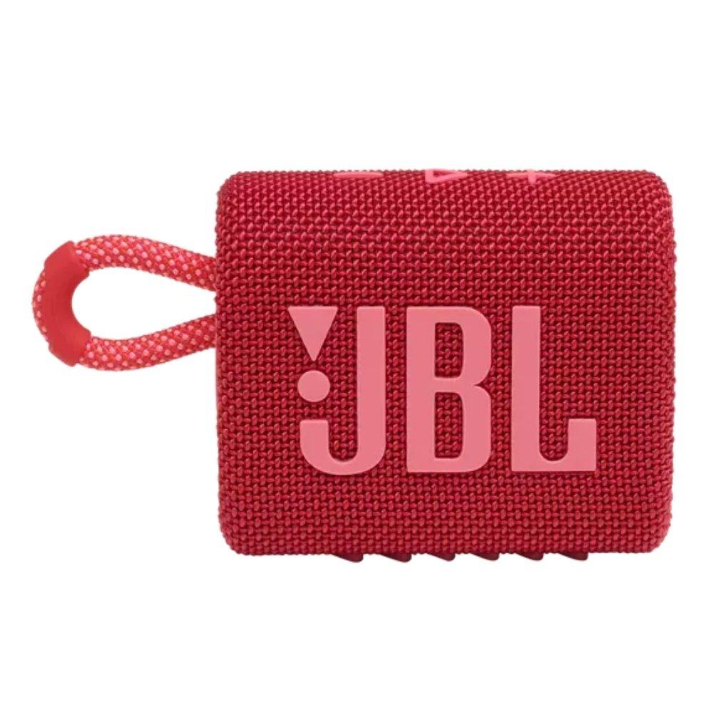 caixa de som bluetooth jbl go 3 vermelha go3 51079 2000 203800