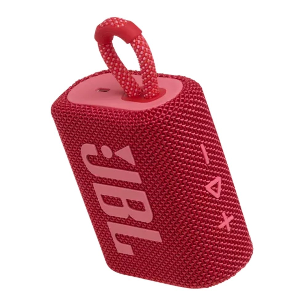 caixa de som bluetooth jbl go 3 vermelha go3 51079 2000 203805