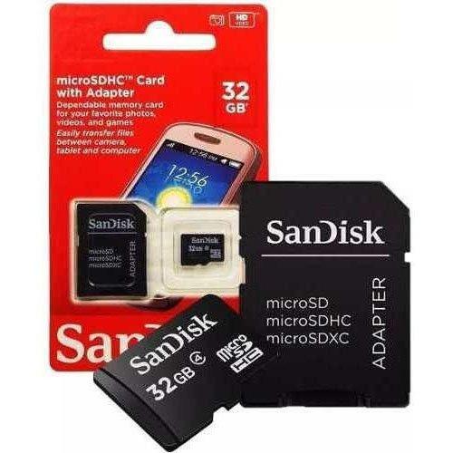 micro sd 32gb sandisk com adaptador 2x1 20797 2000 203869