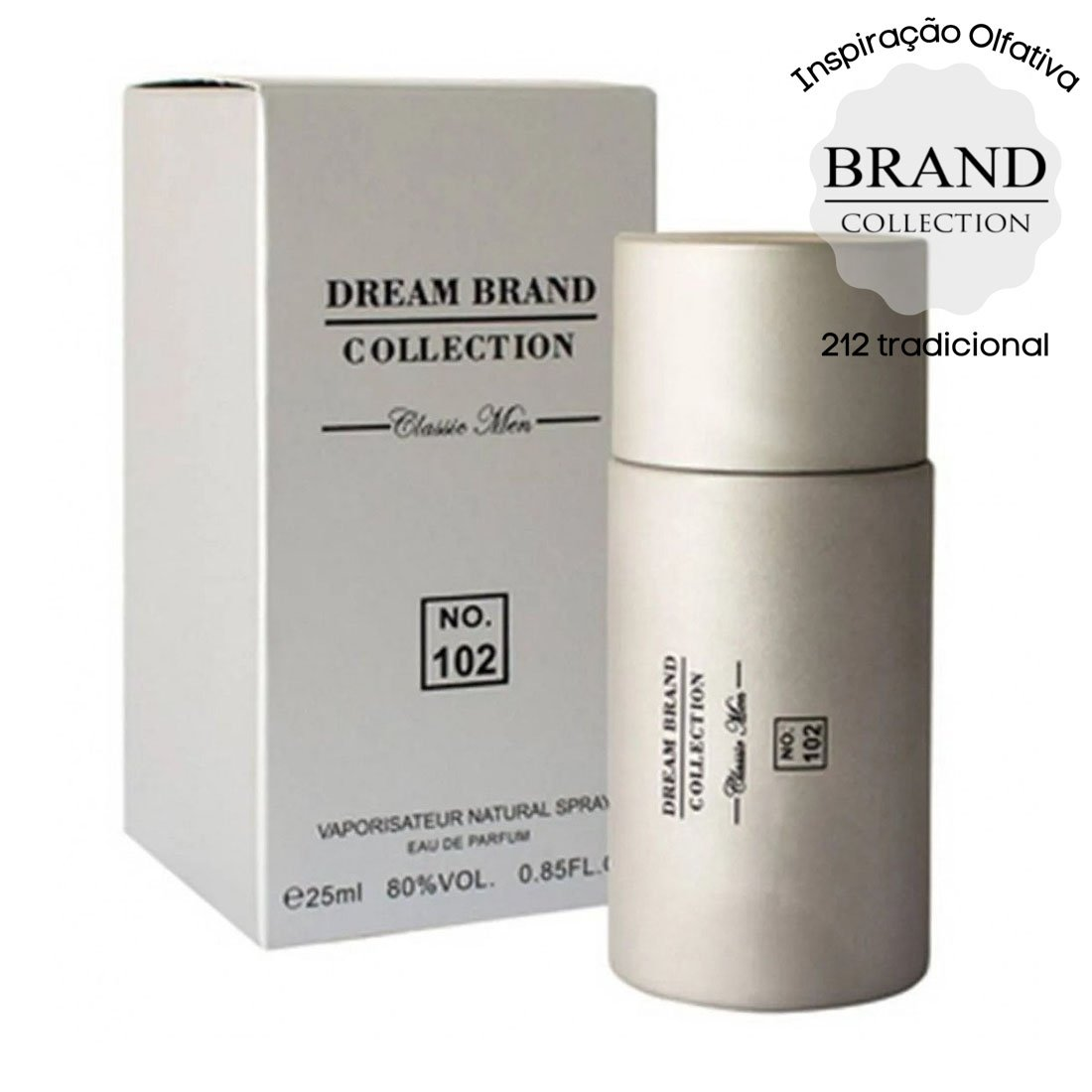 perfume brand collection 102 masculino 25 ml 212 tradicional 51212 2000 203783 1
