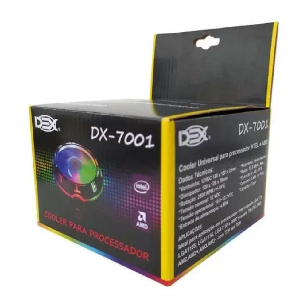 cooler para processador intel amd rgb dx 7001 dex 51379 2000 203966 3