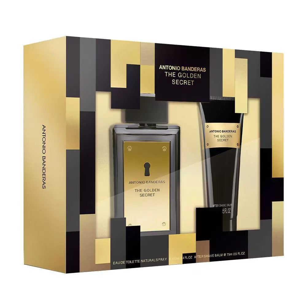 perfume antonio banderas the golden secret kit masculino edt 100mlpos barba 75ml 51190 2000 203477 1