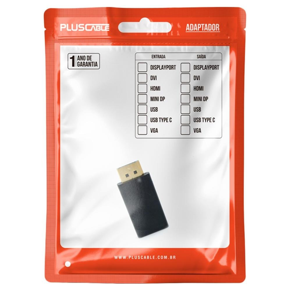adaptador hdmi f x displayport m adp 103bk plusc 51600 2000 204617 1