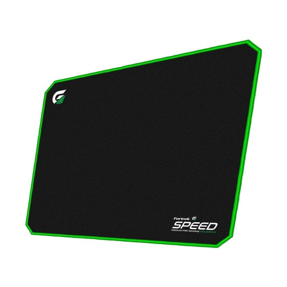 mouse pad gamer 320x240mm speed mpg101 verde fortrek 51634 2000 204724 2