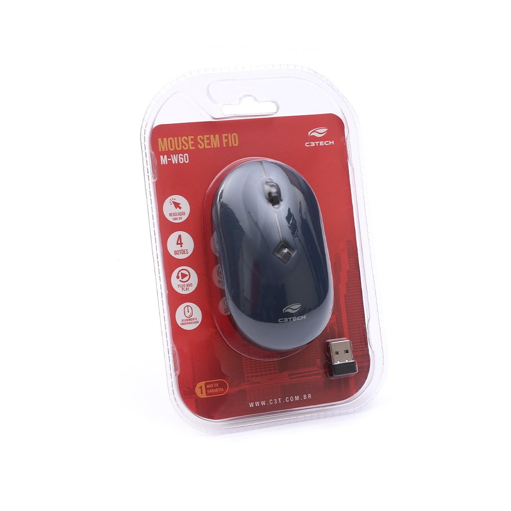 mouse sem fio 1600dpi m w60bl azul c3tech 51610 2000 204646 1