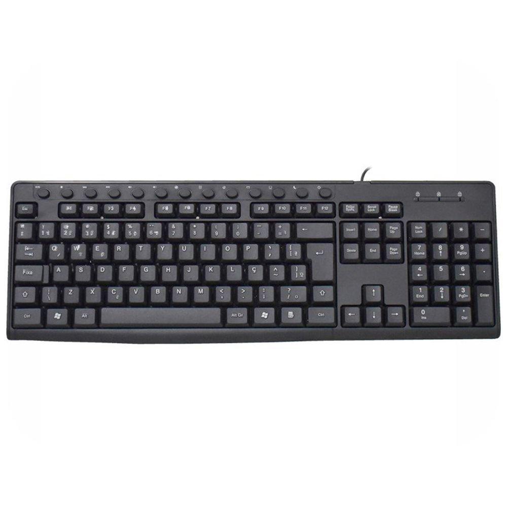 teclado usb multimidia brasil pc bpc 8260 preto 51619 2000 204665 2